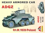 "AMG305508 [1:35]  Heavy Armored Car ADGZ ""1.IX.1939 Poland"""
