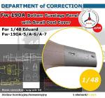 D.O.C.48003 [1:48]  Fw 190 A-5/A-6/A-7 Bottom Fuselage Panel with Small Oval Cover