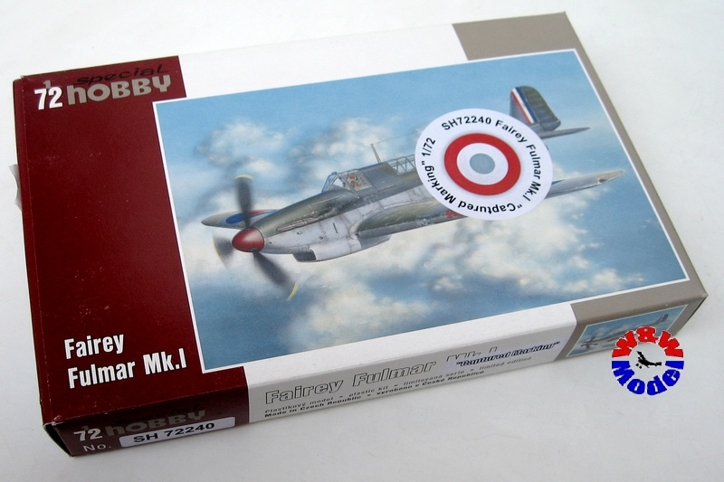 Special Hobby 1//72 Fairey Fulmar Mk I Captured Marking 72240