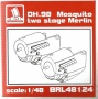 BRENGUN BRL48124 DH98 Mosquito two stage Merlin (Tamiya)