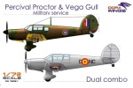 DORA WINGS DW7202D  [1:72]  Percival Proctor & Vega Gull (military serwice)