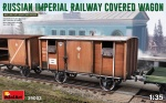MiniArt 39002 [1:35]  Russian Imperial Railway Covered Wagon