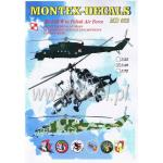 Montex Decals MD4802 Mi-24D/W in Polish Air Force